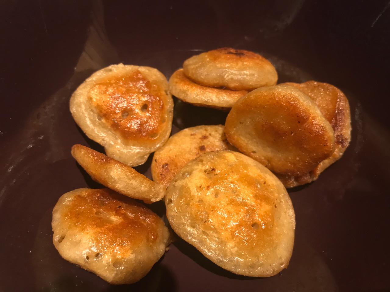 golden sourdough croutons