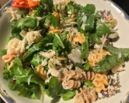 lemon crab pasta salad