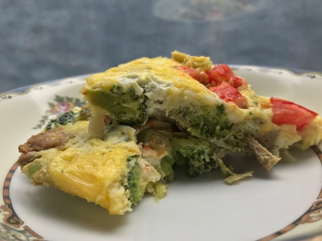 frittata slice side image