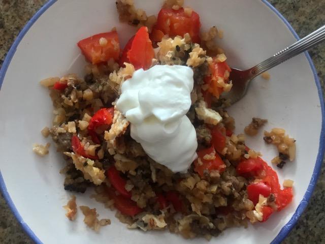 top with Greek yogurt