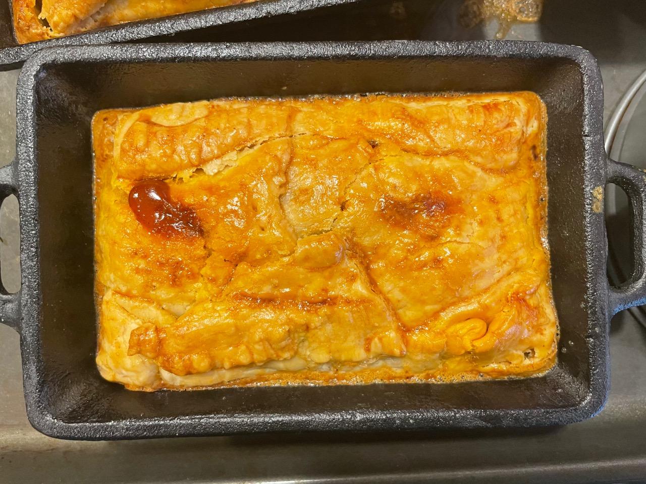 one mini hand pie cooked