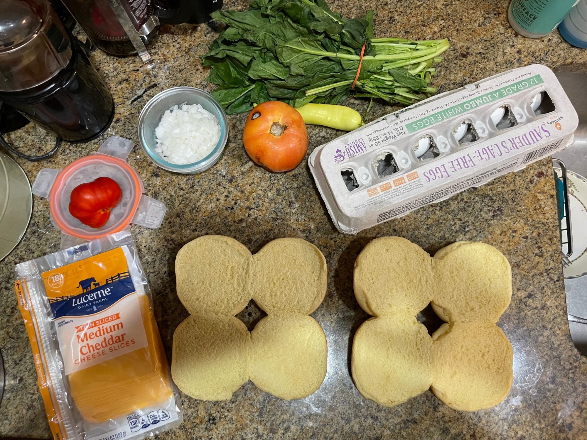 mise en place, setting out the ingredients